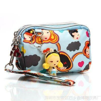厂家零钱包韩版可爱三拉链女式女士手机包手拿包小化妆包超大容量