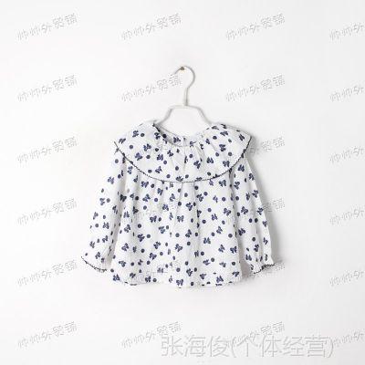 秋款 蝴蝶 娃娃款 女童长袖衬衫 儿童衬衣 外贸童装批发