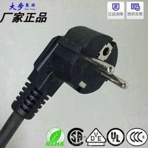 供应欧式烟斗插电源线 高温品字尾 3*1.0平方橡胶电源线