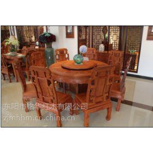 红木圆桌缅甸花梨木圆桌