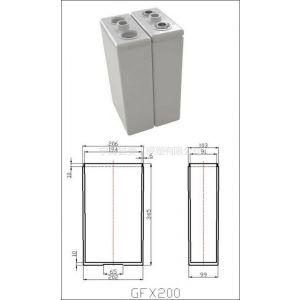 供应胶体塑料免维护电瓶壳电瓶筒2V200AH