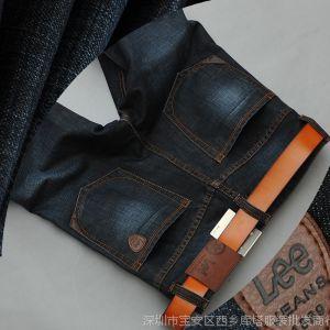 供应2014男式牛仔裤休闲韩版修身直筒升级男装牛子裤广州新塘厂家批发