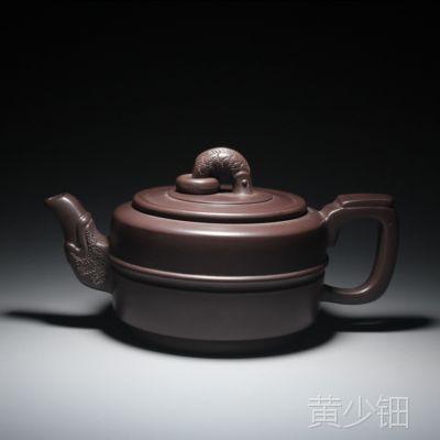 国家工艺师凌燕琴紫砂壶批发 原矿紫泥集玉150毫升 正品紫砂茶壶