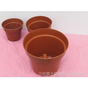 供应红直边 质硬 塑料花盆 鲜切花专用花盆