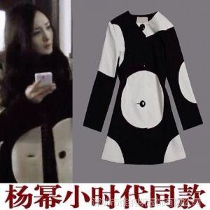供应V&G 2013杨幂明星同款 小时代同款羊毛大衣 V6016