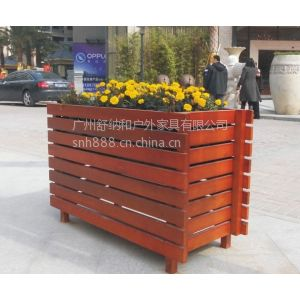 供应实木花箱,购物广场休闲花箱,花箱报价