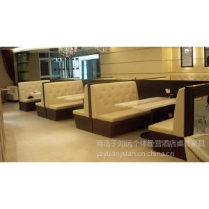 供应青岛厂家专业 定做酒店桌椅家具 豪华包房电动桌 高档欧式餐椅西餐桌椅定做批发