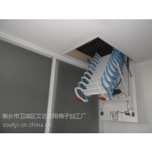 供应天门潜江家用复式阁楼伸缩楼梯室内室外隐形伸缩楼梯侧装壁挂电动遥控阁楼楼梯