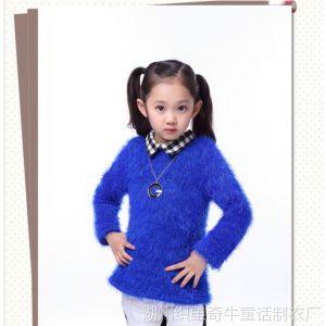 供应2013秋冬童装女童新款韩版毛毛卫衣毛绒外套冬打底衫 儿童保暖衣