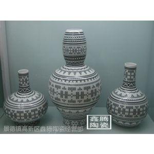 供应陶瓷工艺花瓶,粉彩陶瓷花瓶