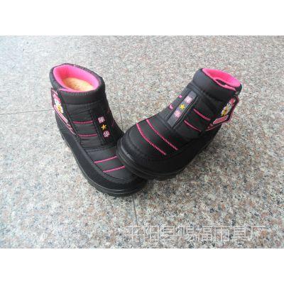 时尚休闲翻毛双球雪地靴.女童靴出口