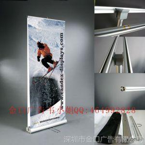 供应广告展示器材 铝合金易拉宝 80*200cm易拉宝 广告展示架/广告架