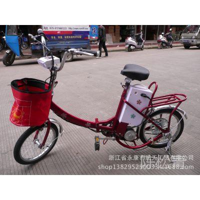 18寸迷你电动车折叠电动自行车电瓶车电单车助力车 载人标配
