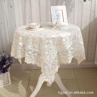 供应我厂直销 双色梅系列 餐椅垫,桌布,十三件套,粉色