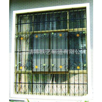 供应铁艺防盗窗 定制锻打护窗上门安装服务