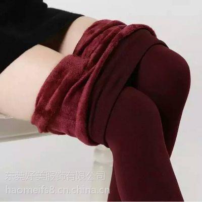 冬季加厚女装打底裤批发韩版修身加绒女式打底裤
