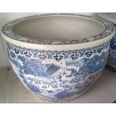 供应景德镇瓷器陶瓷花盆大缸供应批发购买陶瓷鱼缸水缸花盆定做加工定制厂家制作出售