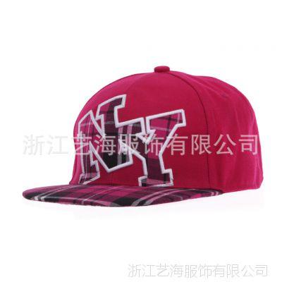 供应平沿帽 韩版NY棒球帽 可调节嘻哈帽 新款hiphop街舞帽 定做 帽子批发