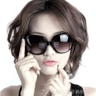 希尔顿百搭女士太阳镜批发 复古潮流墨镜蛤蟆镜女款 大框太阳眼镜