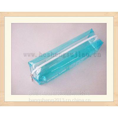 厂家直销圆形拉链笔袋 PVC文具袋 电压透明学生铅笔包装袋
