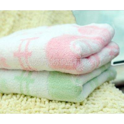 供应加厚提花竹纤维枕巾51*75cm 人人必备 采购认准品牌汉蔡绿竹