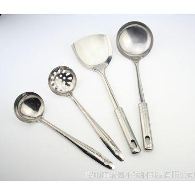 工厂直供生产销售厨房勺铲套件不锈钢潜信5-10元厨房用品0.8mm