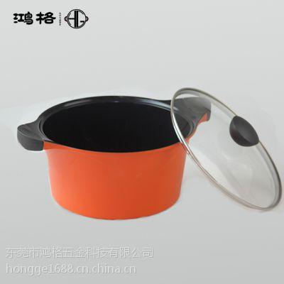 鸿格不粘锅东莞厂家批发货源丨不粘锅陶瓷汤锅