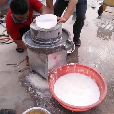 电动小型石磨机 米浆石磨机厂家 富民牌