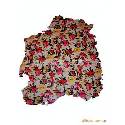 供应2010新款印花绵羊皮 羊皮革 服装革