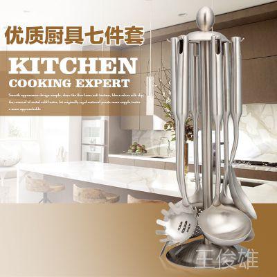 正304不锈钢厨具 双立人同款 厨具7件套 烹饪铲勺套装 礼品套装
