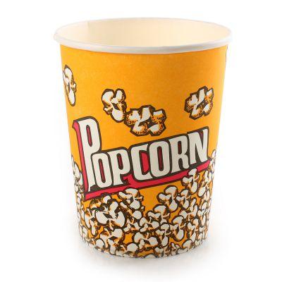 32盎司加厚一次性爆米花桶纸碗环保纸筒爆米花纸杯零食纸杯500个