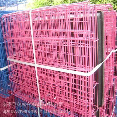 奥威现货出口 黑色浸塑宠物笼子出口铁丝笼 宠物笼泰迪狗 狗窝