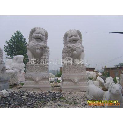 供应石雕狮子大理石狮子汉白玉狮子传统 现代狮子大型工艺品