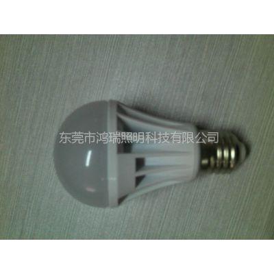 供应厂家直销 专业生产LED5W球泡灯 AC12-36V 220V 2年质保 开发票
