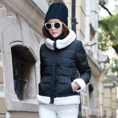 2014年冬季新款时尚魅力女式羽绒服女款淘宝免费代理一件代发货