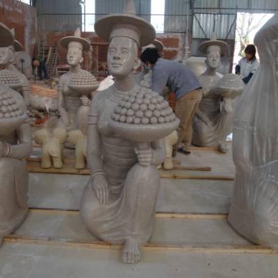 别墅景观泰式人物人造石泰国人像雕塑东南亚风情砂岩佛像小品摆件广州现货批发