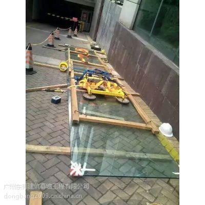 深圳广州珠海超长热弯电梯玻璃安装维修改造东邦幕墙好
