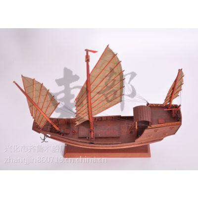 木质工艺品 木质船模 郑和战船模型