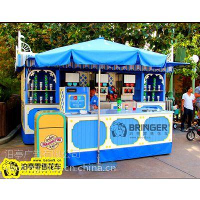泊亭广告有限公司迪士尼风格售卖亭零售花车 ***专业游乐园风景区零售货摊设计制作