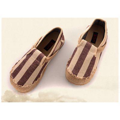 唐之舞泰国民间手工艺品 男式手工帆布鞋1360款厂家批发 透气吸汗