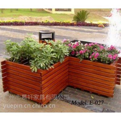厂家现货供应实木花箱,韶关景观种植花箱,开平商业街花箱