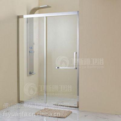 厂家批发304不锈钢大吊轮玻璃隔断干湿分区免加盟费