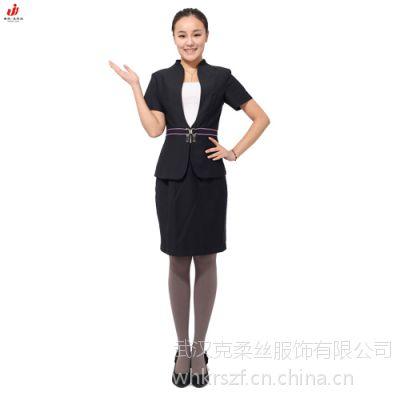 武汉光谷厂家定做韩版商务白领女式修身套裙 公司职业套装 商务西服套裙定制BL0005