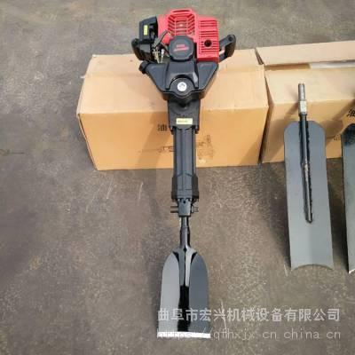 宏兴铲头式挖树机 新款链条起树机 多功能挖树机报价