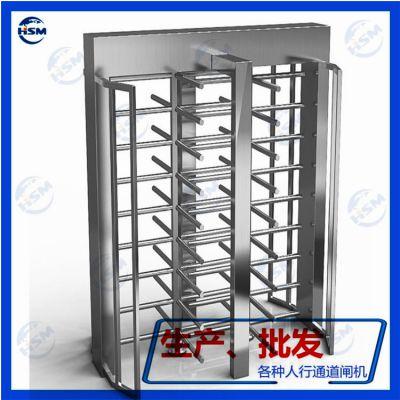 刷卡全高滚动闸厂家鸿顺盟供应工厂,小区,工地HSM-ZZ09单向三辊型通道不锈钢闸机
