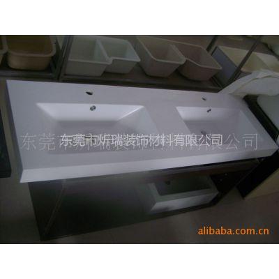 供应厂家定做人造石浴室柜台盆 复合亚克力盆 树脂卫浴洁具
