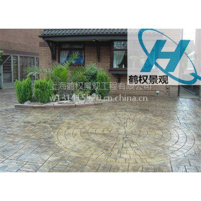 四川彩色压模地坪,压模艺术园林设计