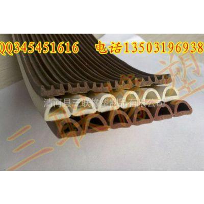 供应木门自粘密封条/防水膨胀胶条/木门条生产厂家