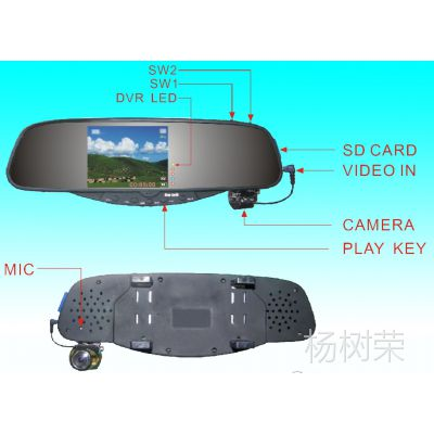 供应车载行驶记录仪,后视镜车载行车记录仪厂家直销 3.5寸记录仪