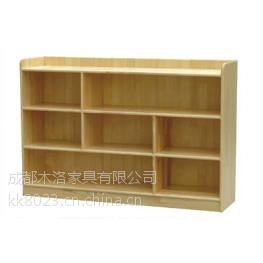 供应峨眉山幼儿园书架书包柜实木材质